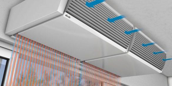 Воздушные тепловые завесы: принцип работы, способы установки, управление.