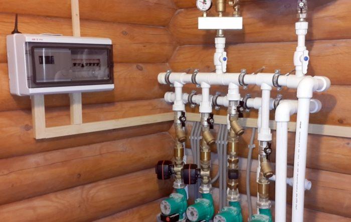 Управление системой отопления в частном доме.