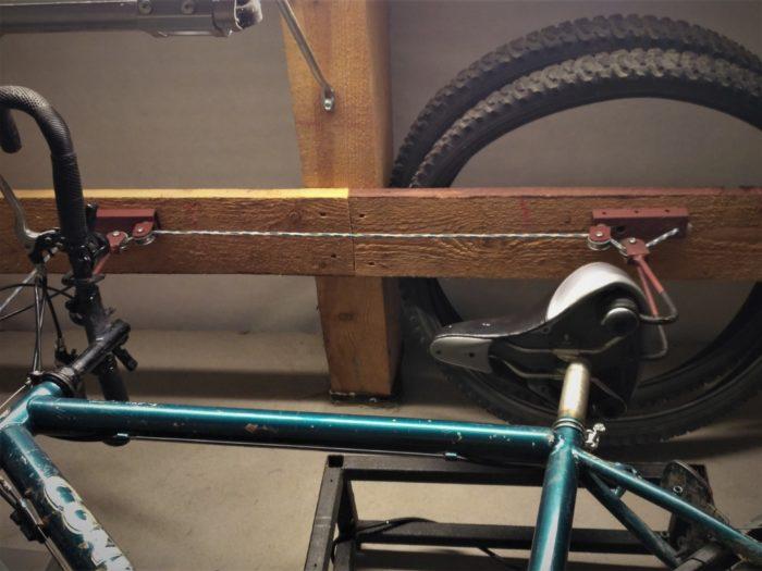 подвесное хранение велосипеда